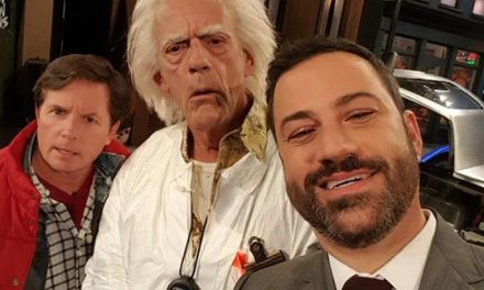 Back to the Future day crashes Jimmy Kimmel Live in Brooklyn