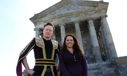 Conan O'Brien takes his assistant to Armenia to film special episode of Conan for TBS #TeamCoco
