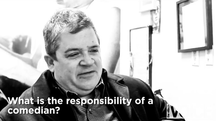 Patton Oswalt on how essential comedy is for society in 2015