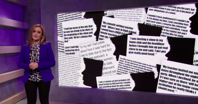 Samantha Bee, iOWest give voice and take action to women in comedy against sexual harassment and assault