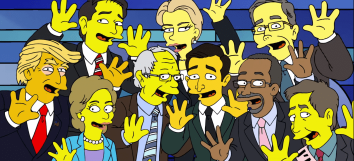 The Simpsons mashes up audio from Election 2016 for nightmare dream sequence