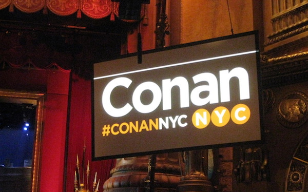 Conan heading back to NYC for shows Halloween week 2016
