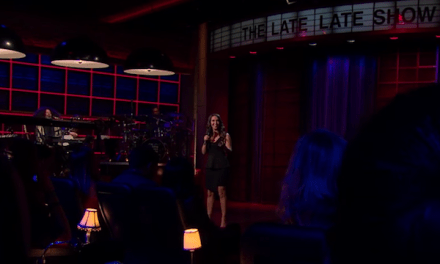 Rachel Feinstein's network late-night TV debut on The Late Late Show with James Corden