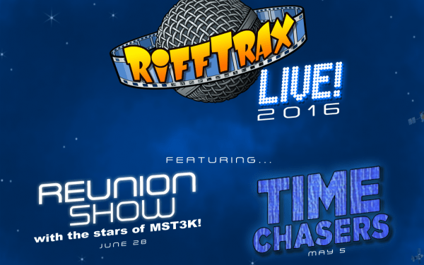 RiffTrax reuniting entire MST3K principal cast, including all three hosts for June 2016 show