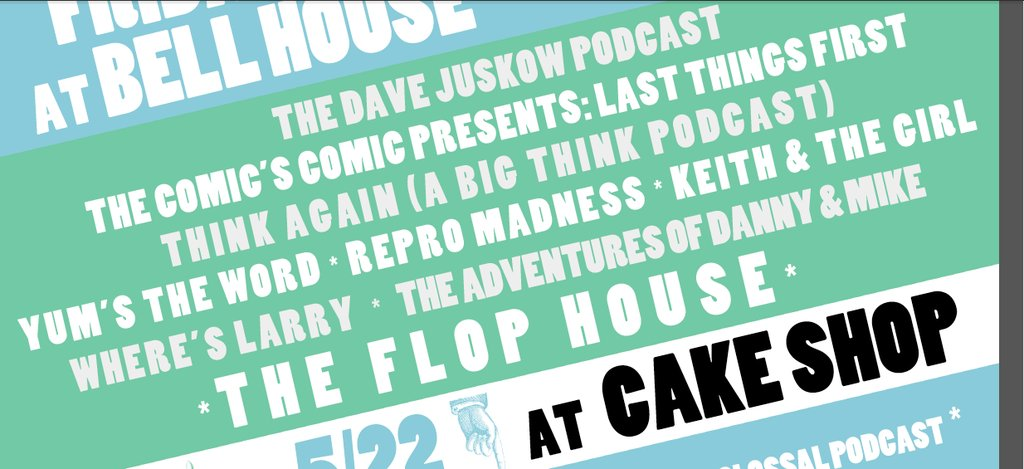This just in: The Comic's Comic joins NYC PodFest 2016!