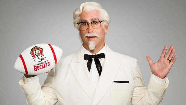 Rob Riggle joins the ranks of Colonel Sanders spokesmen for Kentucky Fried Chicken