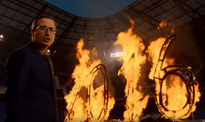 John Oliver offers mea culpa on Trump, says F— 2016! in explosive finale to season three of HBO's Last Week Tonight