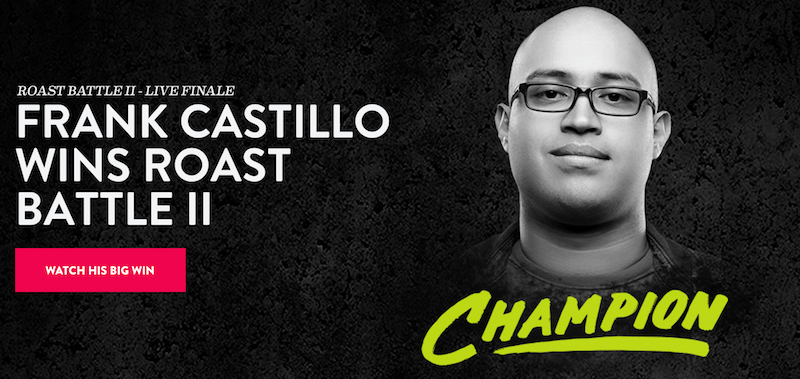 Frank Castillo wins Roast Battle II on Comedy Central
