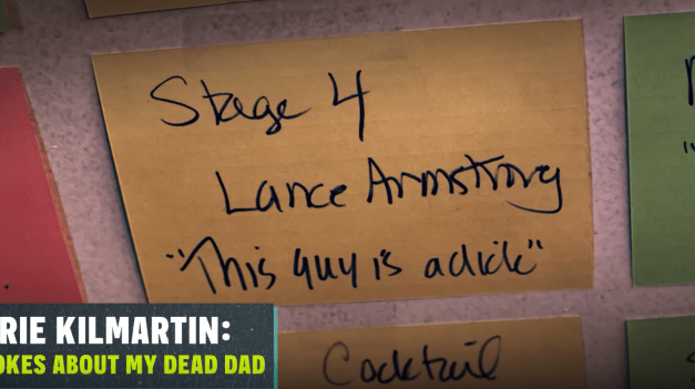 """Review: Laurie Kilmartin, """"45 Jokes About My Dead Dad,"""" on Seeso"""