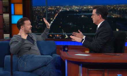 Does God exist? Stephen Colbert debates Ricky Gervais on The Late Show