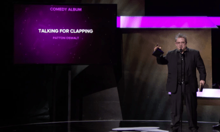 "Patton Oswalt wins the Best Comedy Album Grammy for ""Talking For Clapping"""
