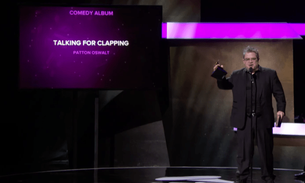 """Patton Oswalt wins the Best Comedy Album Grammy for """"Talking For Clapping"""""""