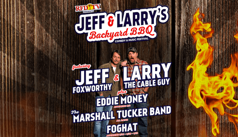 Jeff Foxworthy and Larry the Cable Guy putting on a summer Backyard BBQ festival tour