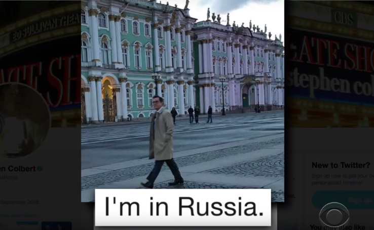 "Stephen Colbert went to Russia to film a week's worth of ""secret"" Late Show segments"