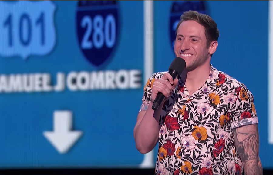 Samuel J. Comroe performs on the quarterfinals of America's Got Talent 2018