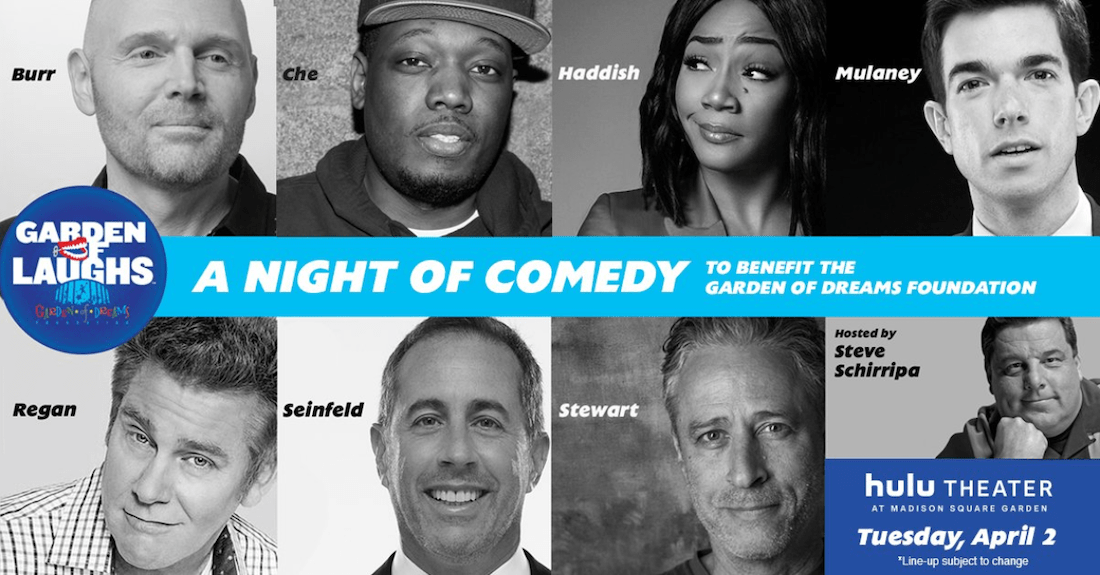 All-star lineup announced for 2019 Garden of Laughs benefit in NYC