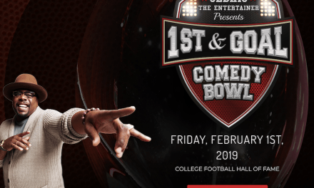 Cedric The Entertainer entertaining first First & Goal Comedy Bowl special