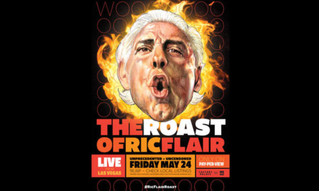 Comedians enter the ring for Starrcast II Roast of Ric Flair in Vegas in May 2019