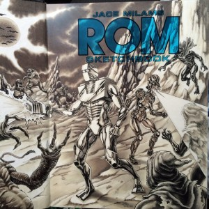 Rom Sketchbook title page by Josh Deck