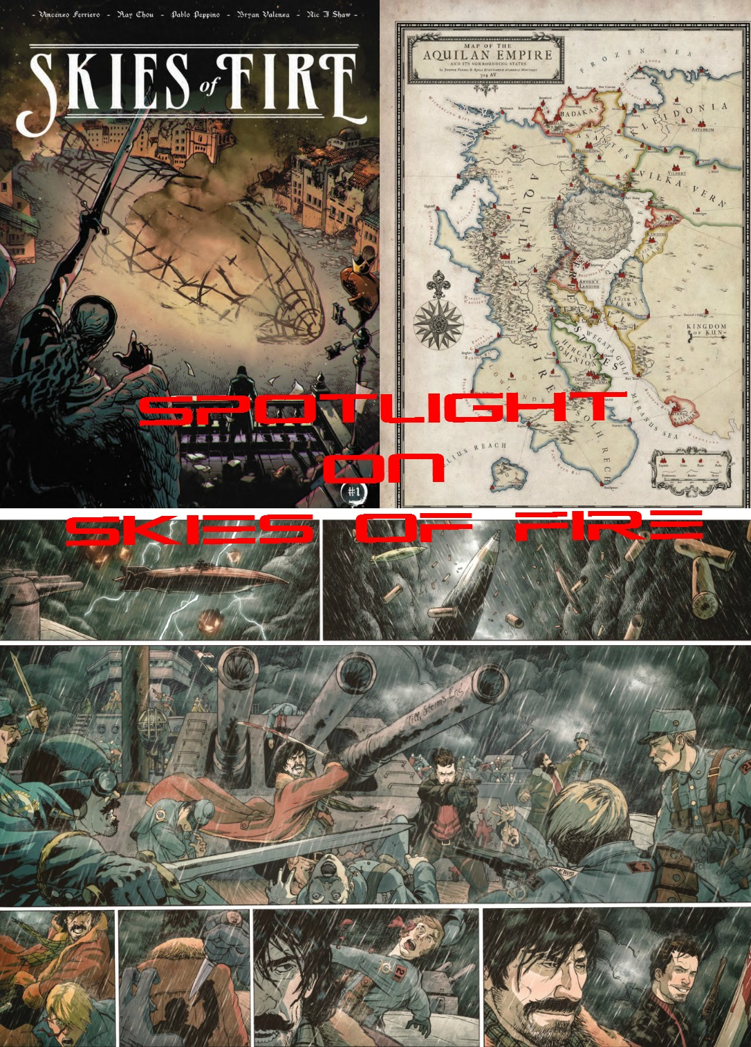 The Comic Source Podcast 084 Spotlight on Skies of Fire
