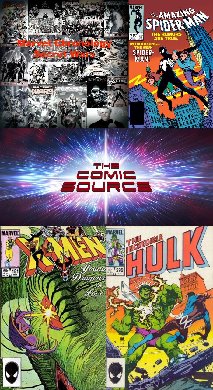 The Comic Source Podcast Episode 322 – Marvel Chronology Secret Wars Aftermath Amazing Spider-Man #252, Incredible Hulk #295 & Uncanny X-Men 181
