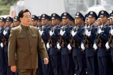 """Chinese President Hu, """"I will nuke you America""""."""