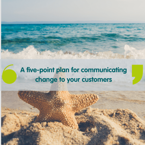 Image of a starfish to represent a five-point plan for communicating change to your customers