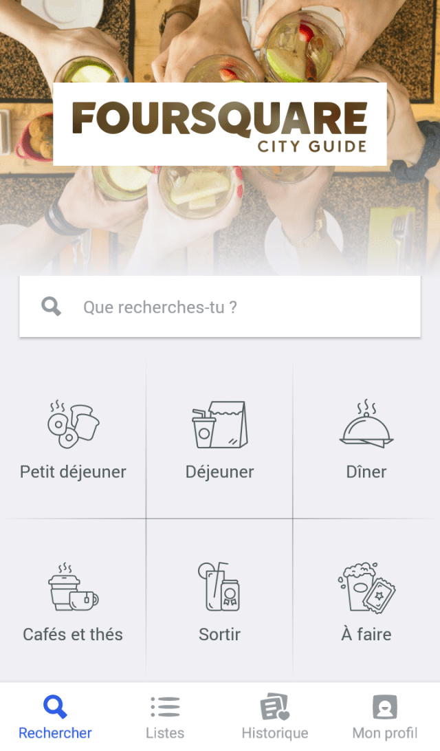 Mes applications voyage : Foursquare