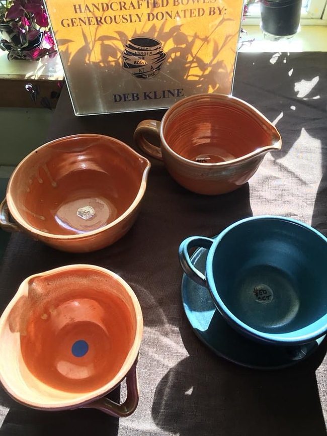 Pottery bowls created by Deb Kline