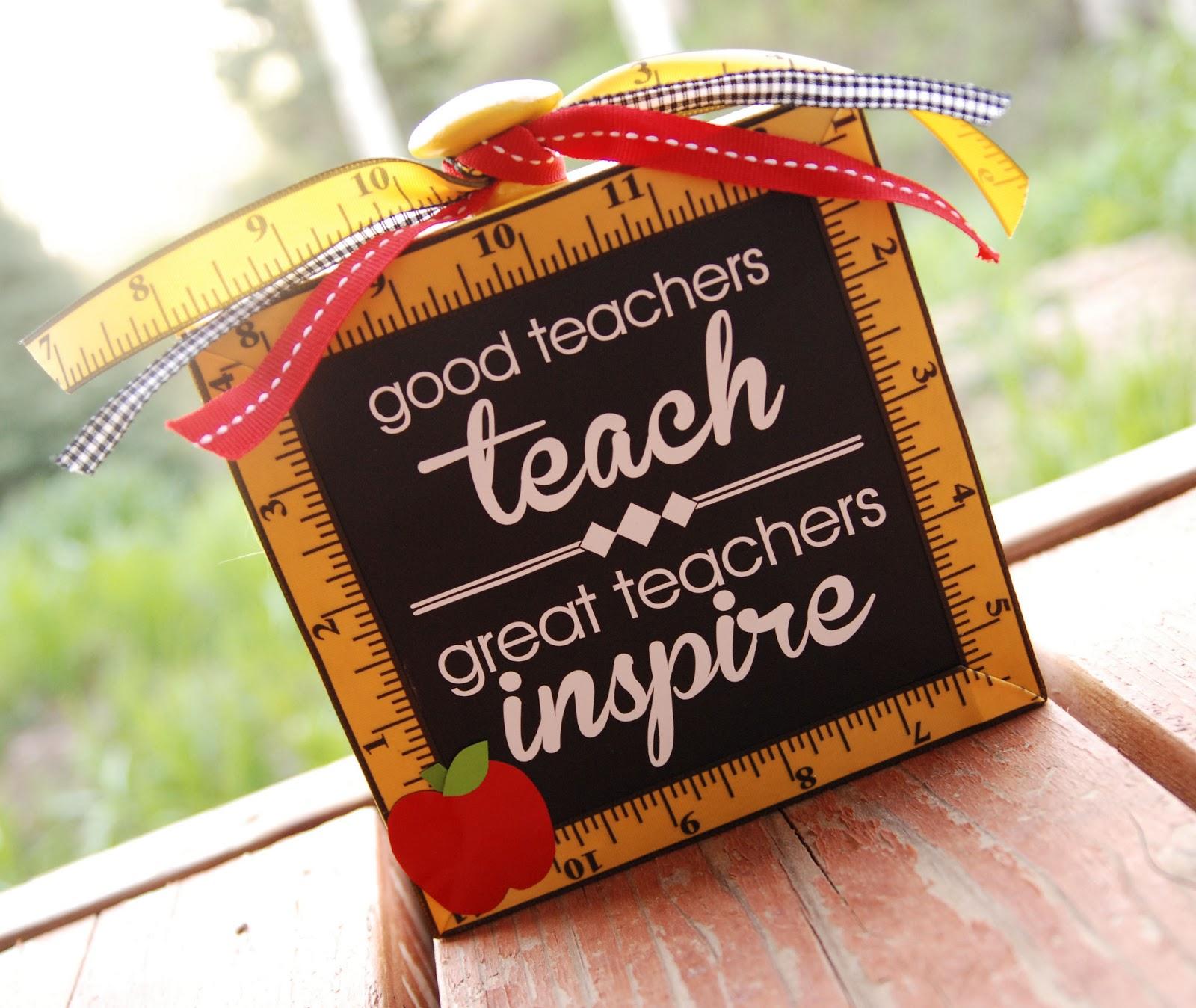 good teachers teach great