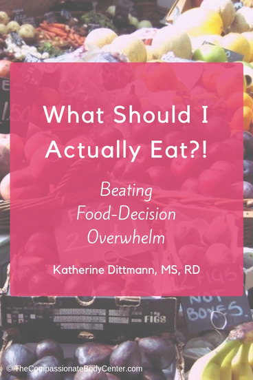 Food decisions | Intuitive Eating | What should I eat? | Eating disorder RD