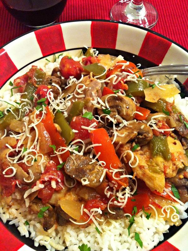 Slow Cooker Chicken Cacciatore ~ The Complete Savorist