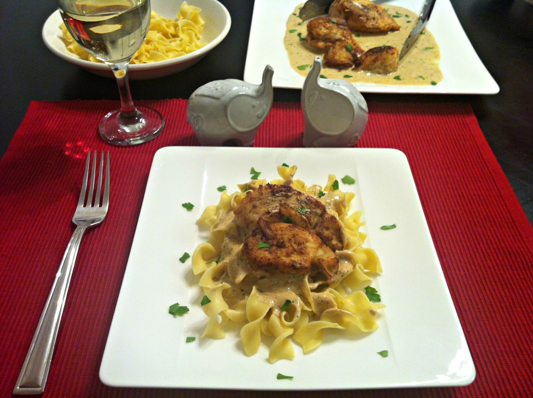Creamy Dijon Chicken ~ Quick skillet cooked chicken with a delicious creamy Dijon and tarragon pan sauce for a hearty and satisfying meal ~ The Complete Savorist by Michelle De La Cerda