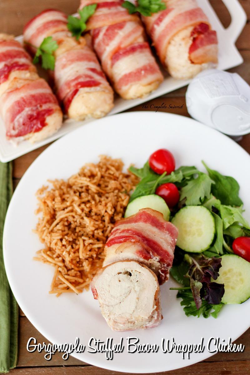 Gorgonzola Stuffed Bacon Wrapped Chicken