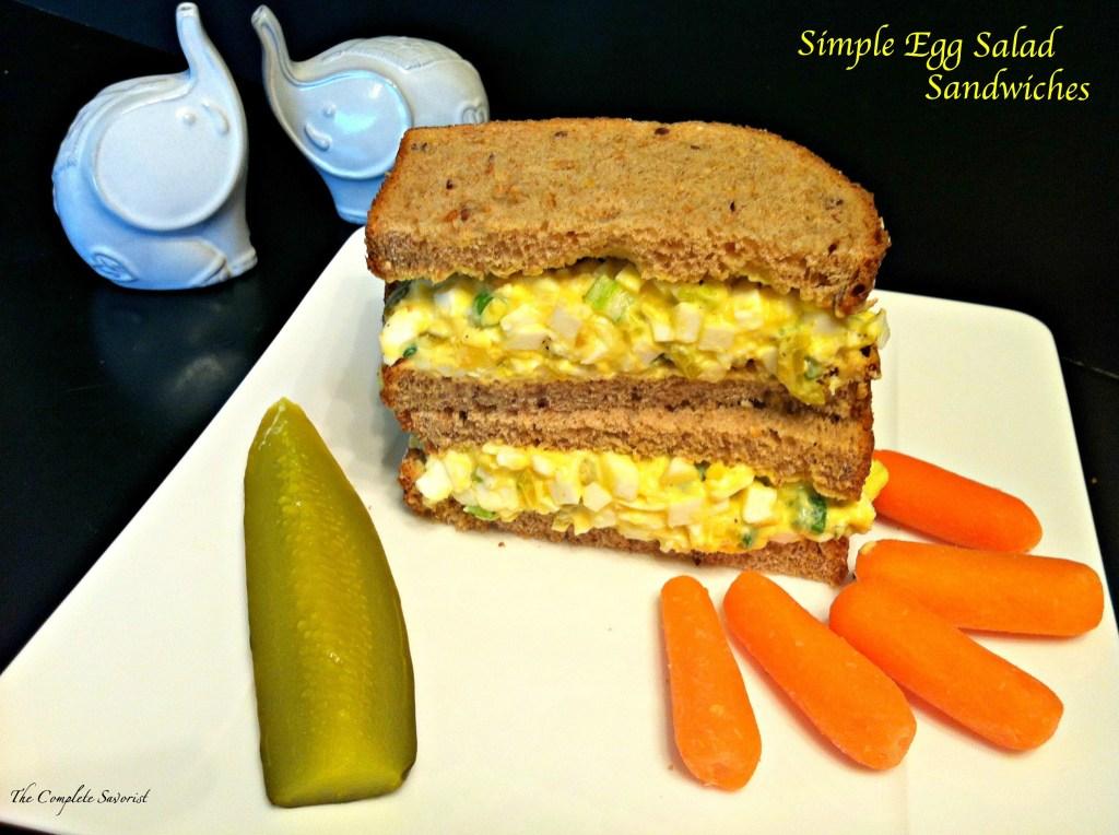 Simple Egg Salad Sandwiches ~ The Complete Savorist