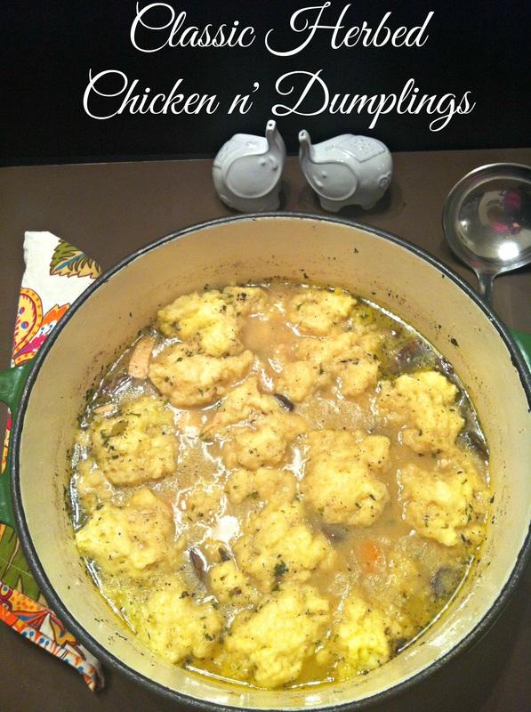 Classic Herbed Chicken n' Dumplings ~ The Complete Savorist