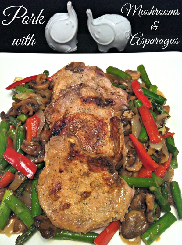 Pork with Mushrooms and Asparagus ~ The Complete Savorist