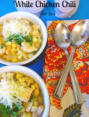 White Chicken Chili for two ~ The Complete Savorist