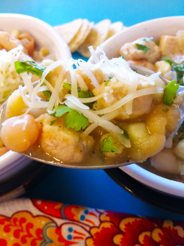 Spoonful of White Chicken Chili for two ~ The Complete Savorist