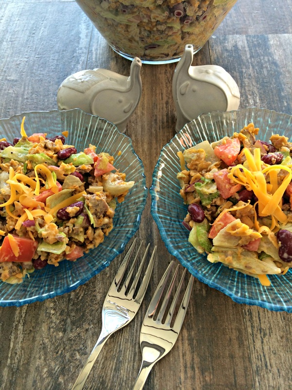 Father's Day Taco Salad ~ The Complete Savorist