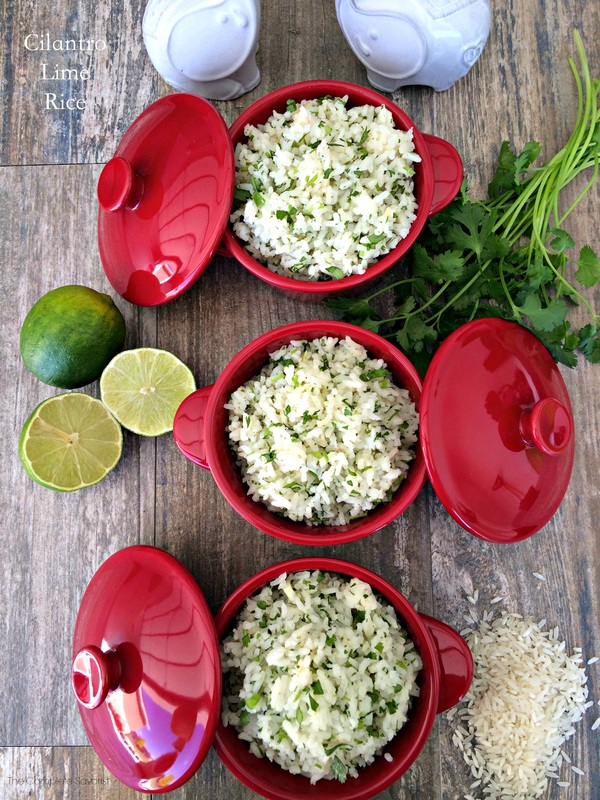 Cilantro Lime Rice ~ fluffy long grain white rice flavored with cilantro and lime, an upgrade to the plain old rice on your dinner table.