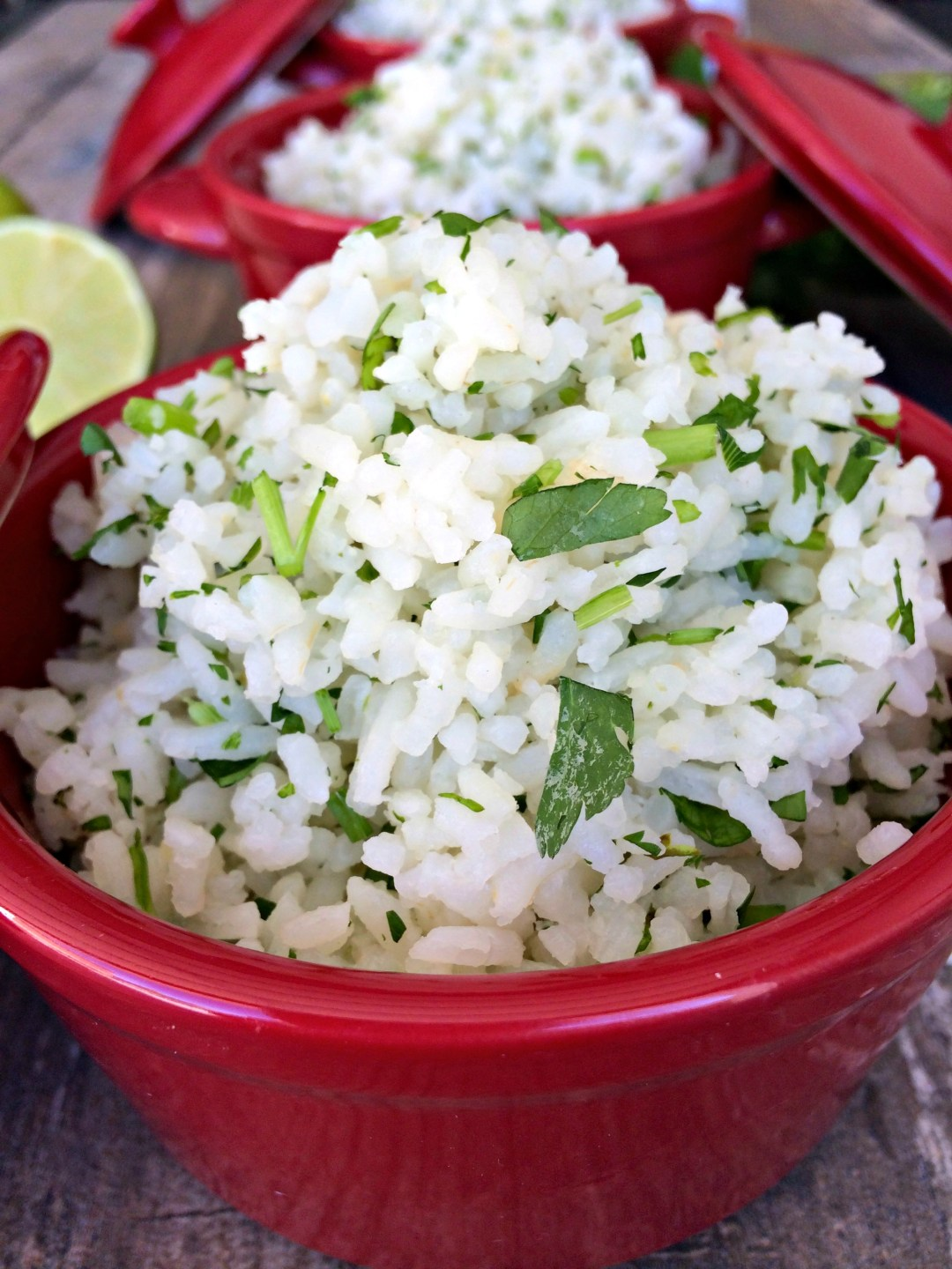 Cilantro Lime Rice ~ fluffy long grain white rice flavored with cilantro and lime, an upgrade to the plain old rice on your dinner table.  The Complete Savorist
