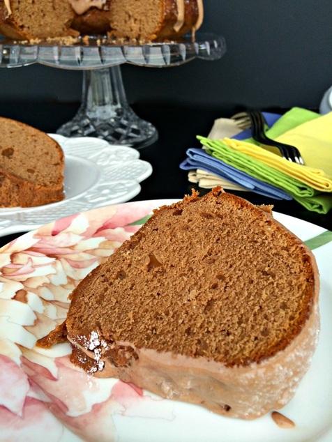 Chocolate Almond Pound Cake ~ The Complete Savorist