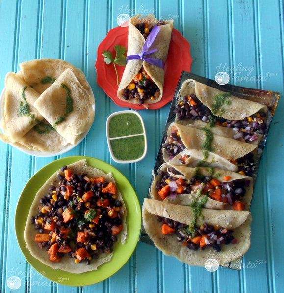 Mexican Crepe Taco by Healing Tomato ~ The Complete Savorist
