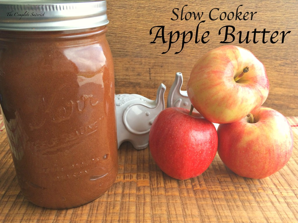 Slow Cooker Apple Butter ~ Smooth and silky slow cooker apple butter with simple ingredients is the epitome of Fall's bounty ~ The Complete Savorist