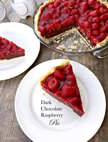 A decadent dessert that pairs rich and creamy dark chocolate with tart raspberries in a flaky crust. ~ The Complete Savorist by Michelle De La Cerda