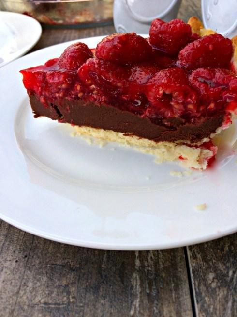 Dark Chocolate Raspberry Pie ~ The Complete Savorist