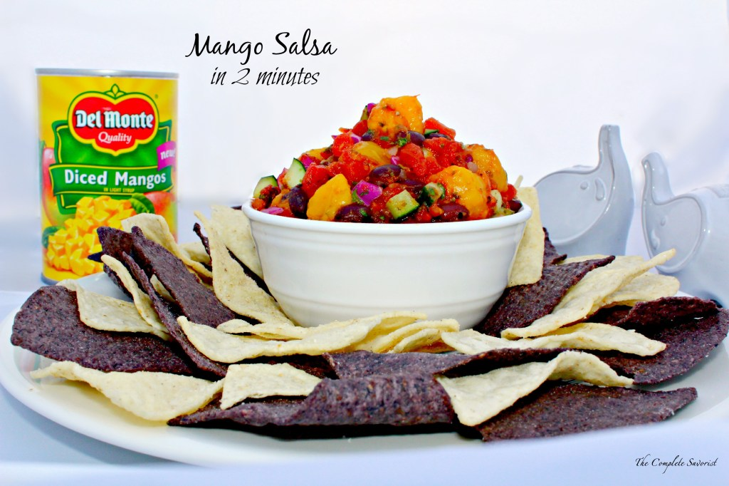Quick Mango Salsa is ready to serve