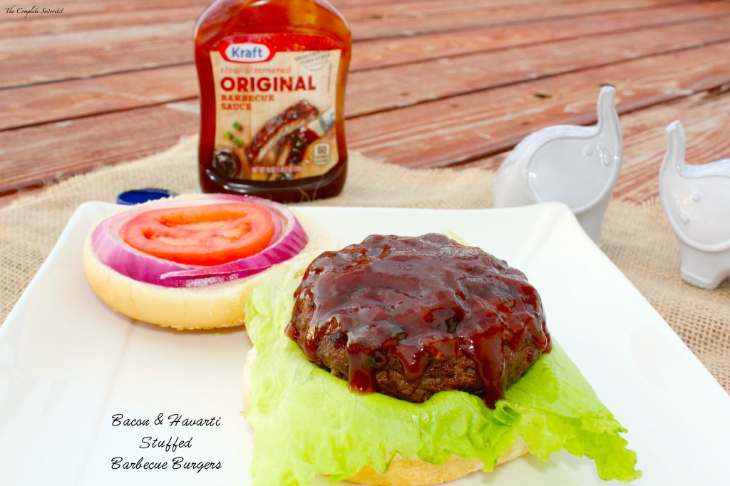 Bacon & Havarti Stuffed Barbecue Burgers ~ The Complete Savorist #Evergriller #sponsored