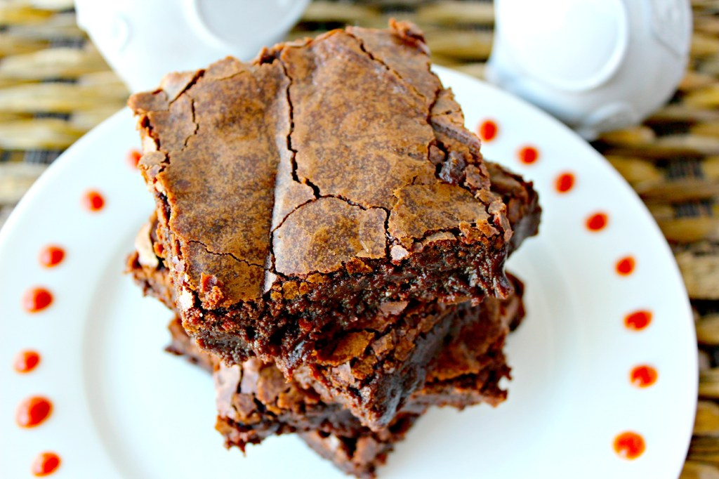 Top View of Sriracha Brownies ~ The Complete Savorist